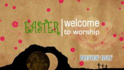 Easter Resurrection Welcome Text