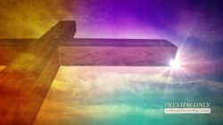 Large Colorful Wooden Cross Motion