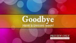 Church Media Abstract Goodbye