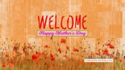 Mothers Day Welcome Text Background