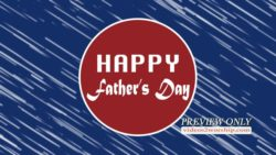 Happy Fathers Day Title Background
