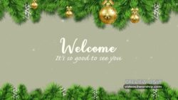 Christmas Holidays Welcome Background