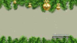 Winter Holidays Evergreen And Snow
