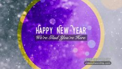 Happy New Year Text Background