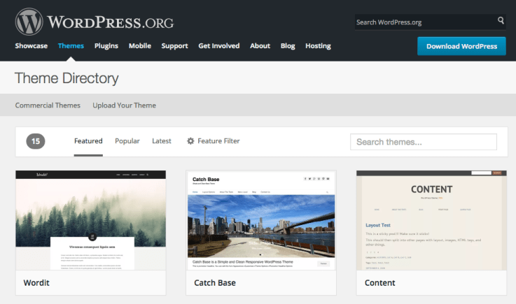 wordpress.org theme directory