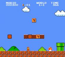 Super Mario Bros. von 1985 auf dem NES. (Bild: Nintendo)