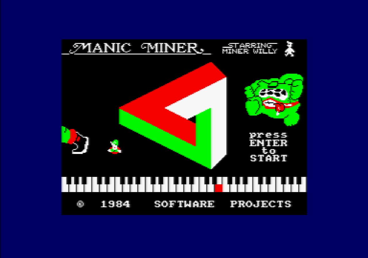 Manic Miner von Matthew Smith/Bug-Byte war in den 1980er Jahren ein beliebtes Plattformspiel. (Bild: Michael Behr)