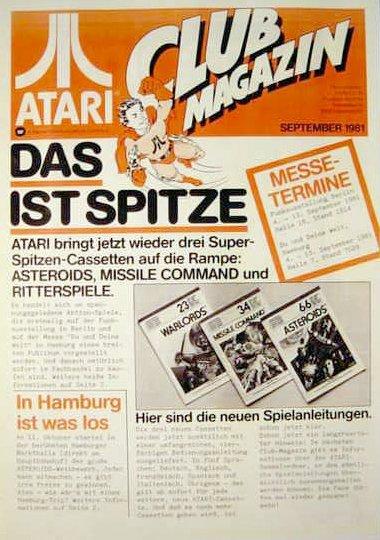 Ausgabe vom September 1981. (Bild: Atari)