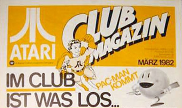 Das Logo der Ausgabe vom März 1982 mit dem Hinweis auf das baldige Erscheinen von Pac-Man. (Bild: Atari)