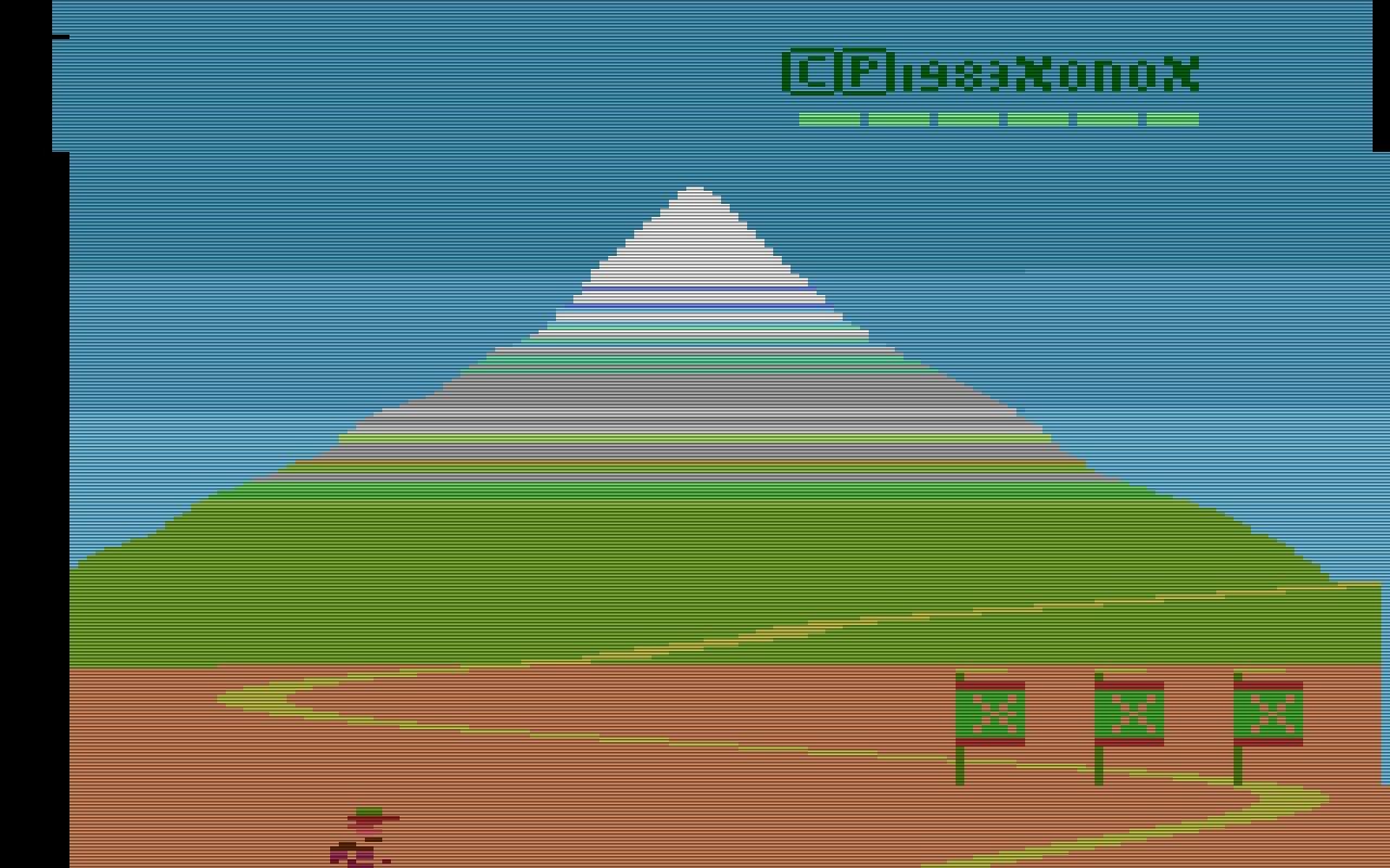 Bei Spikes Peak von 1983 handelt es sich um ein Abenteuerspiel. Es galt auf dem Weg zum Berggipfel viele Gefahren zu überwinden. (Bild: XONOX)