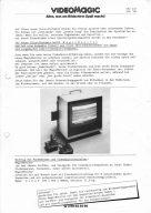 Videomagic-Anzeige für den MagicMonitor von 1983. Alles, was am Bildschirm Spaß macht! (Bild: M. Cavendish)
