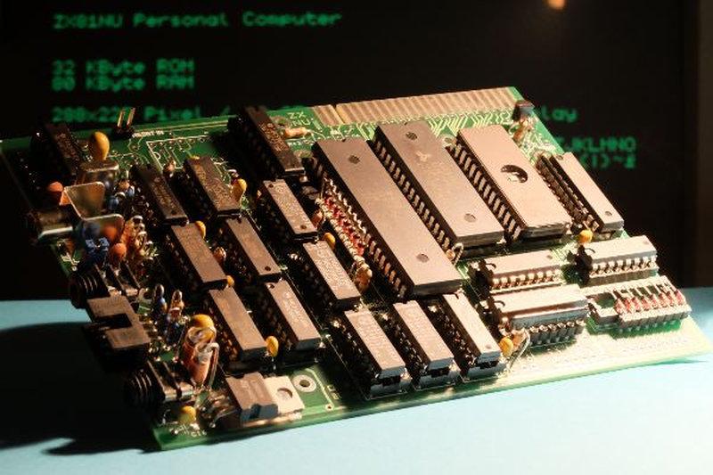 Die Platine des ZX81NU. (Bild: ZX-TEAM)