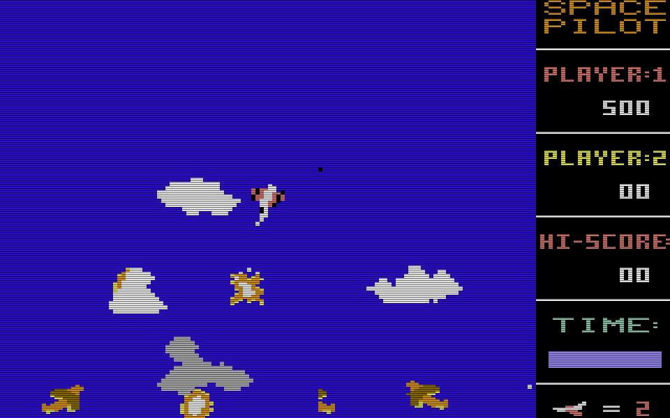 Space Pilot von 1984 war das erste kommerzielle Spiel von Henrik Wening. Es wurde von Kingsoft für 39.- DM angeboten. Der Publisher textet dazu in einer CHIP-Anzeige: Wer träumt nicht davon, in einem Flugzeug der König der Lüfte zu sein? (Bild: Kingsoft)