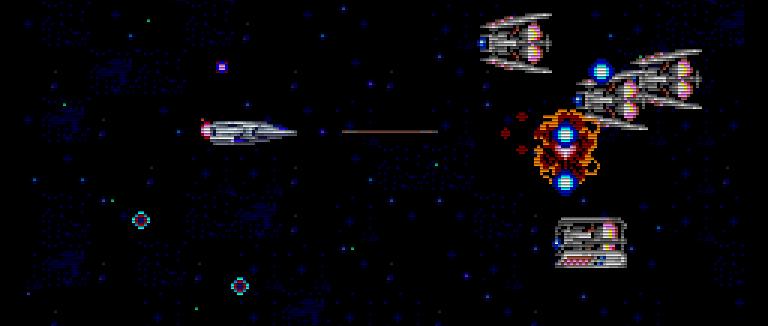 In den Tiefen des Weltraums wird Xain mit vielen gut ausgebildeten Jägern konfrontiert. (Bild: Taito)