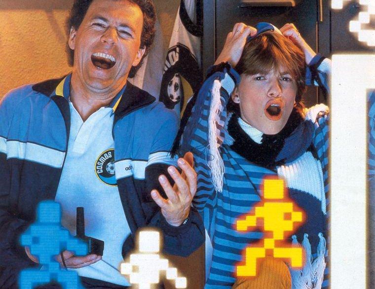 Die Prominenz spielt ATARI: Franz Beckenbauer als Werbeträger für Atari Videospiele. (Bild: Atari)