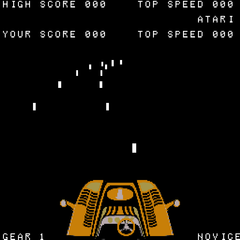 Night Driver von Atari. (Arkaden, 1976)