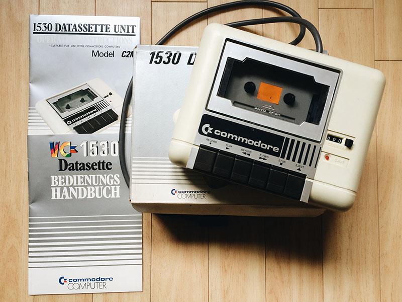 Commodore 1530 C2N Datasette (1983), mint. (Bild: Stefan Vogt)