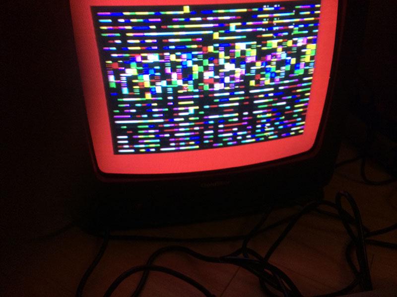 Commodore 64: PLA-Chipfehler. (Bild: Stefan Vogt)