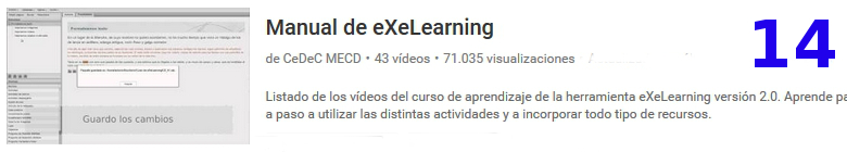 curso del software libre exelearning en youtube