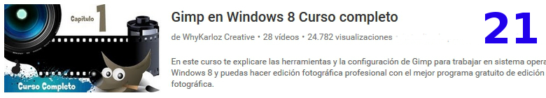 curso sobre el software libre GIMP en youtube