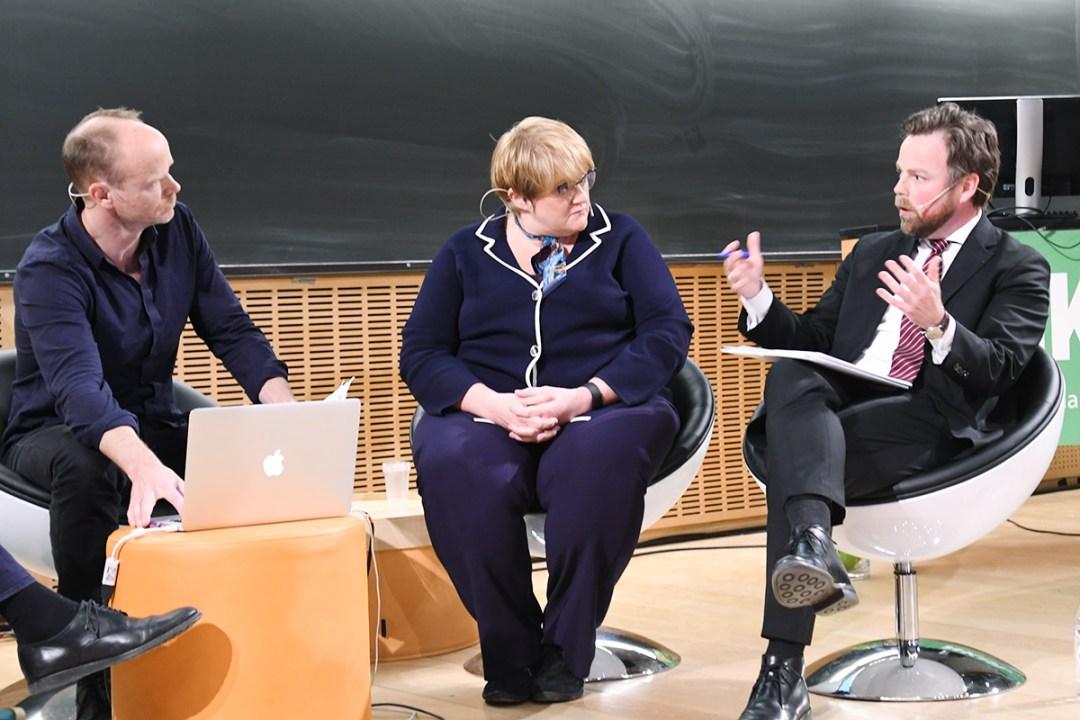 Kunnskapsminister Røe Isaksen i debatt med Trine Schei Grande og Harald Eia ved NKUL 2017