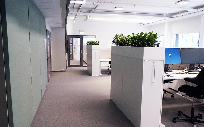 Interiør fra Kjørbo byggetrinn 2