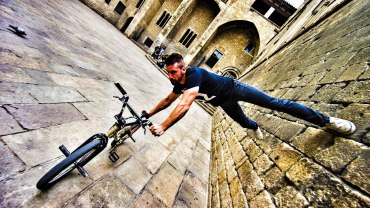 Bike Parkour On The Streets Of Barcelona