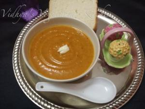 Roaster Bell Peppers and Butternut Squash Soup