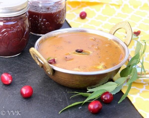 cranberrysaucekuzhambu