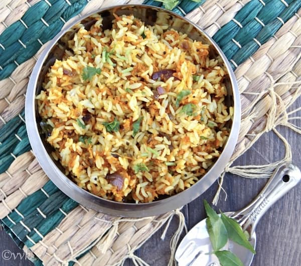 Carrot Palya Rice