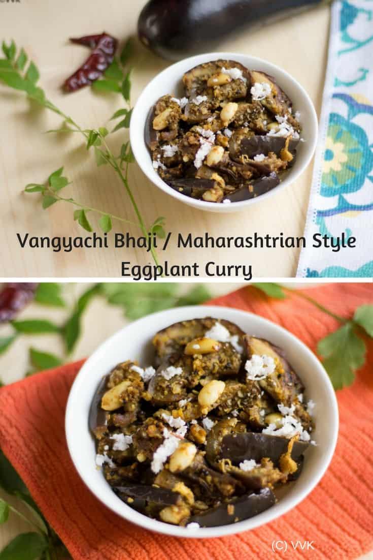 Vangyachi Bhaji Maharashtrian Style Eggplant Curry