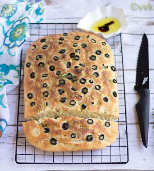 Focaccia with Rosemary and Olives