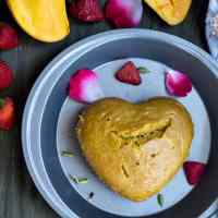 Instant Pot Eggless Mango Cake with Cardamom