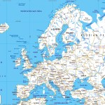 Detailed Roads Map Of Europe With Capitals And Major Cities Vidiani Com Maps Of All Countries In One Place