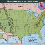 Detailed Physical Features Map Of The United States Vidiani Com Maps Of All Countries In One Place