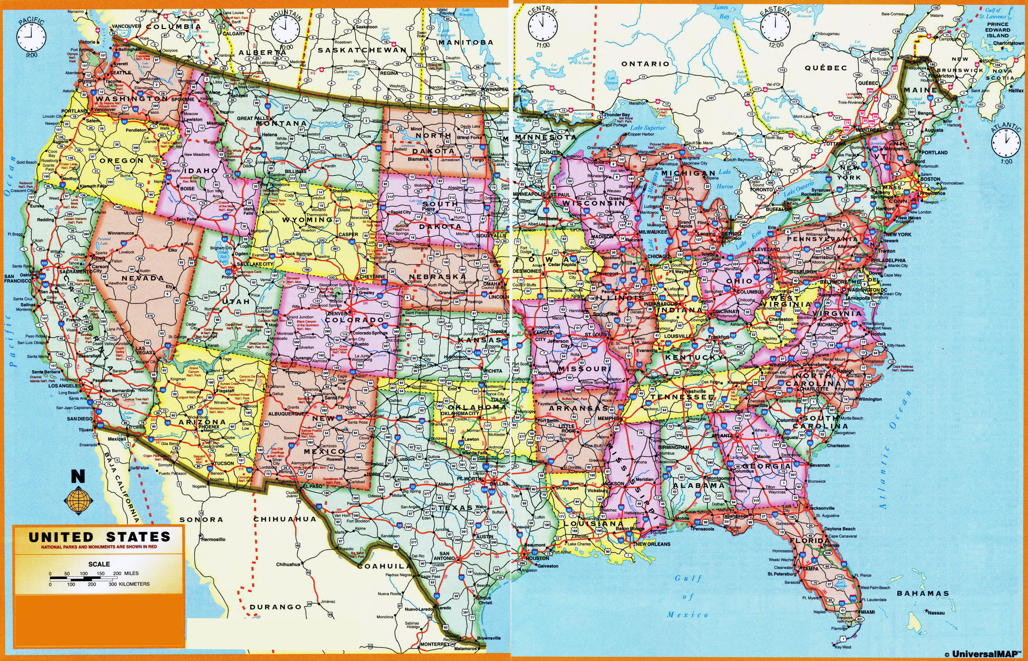 In High Resolution Administrative Divisions Map Of The Usa