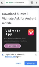 How to download and Install Vidmate app