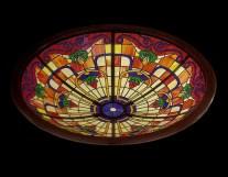 Fabricación de vidriera de plomo para cúpula