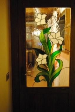 Fabricación de vidriera a medida para puerta de paso