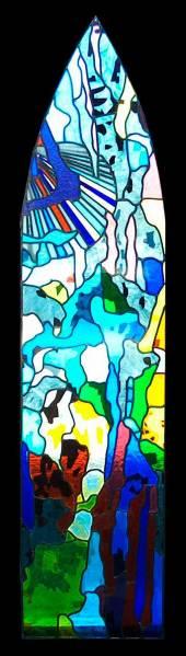 Fabricación de vidrios decorados para iglesias