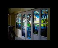 Fabricación de vidrios decorados para puertas