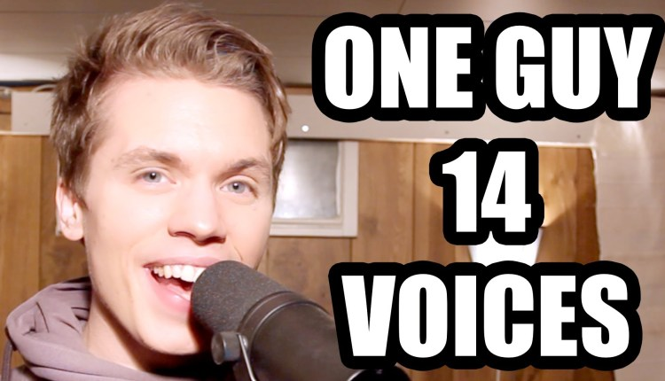 A Guy Sings In 14 Voices