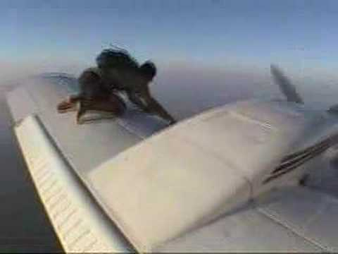 Amazing Wing Walking Skydiver