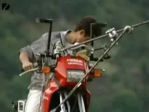 Crazy Motorbike Tightrope Stunts