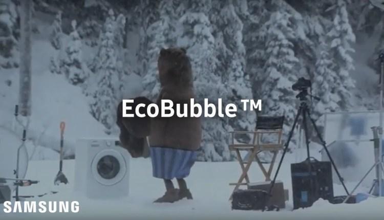 Funny Huge Bear Surprises Samsung Commercial