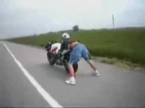 Ultimate Biker Trick Foot Sliding ! Insane Stunt