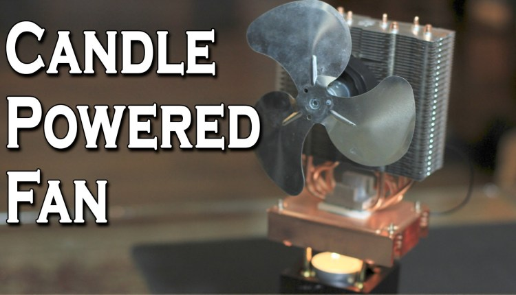Amazing Candle Powered Fan