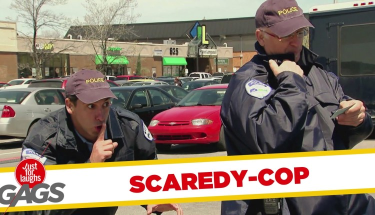 Scaredy Cop Scares Everyone Prank