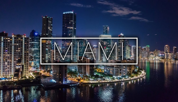 Beautiful Miami City Shot With A Drone
