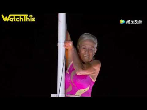 This 81 Year Old Lady's Stunt Is Incredible